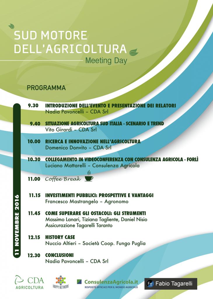programma evento Sud motore dell'agricoltura